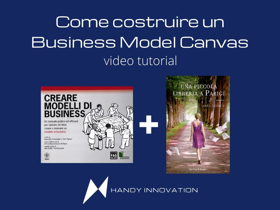 Come costruire un Business Model Canvas con il romanzo una piccola libreria a Parigi_video tutorial
