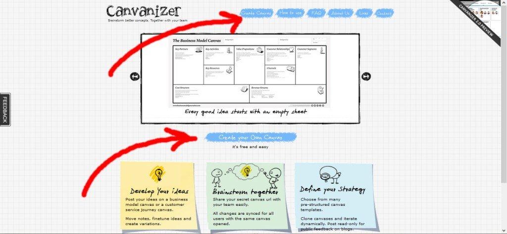 Business Model Canvas elettronico crea il tuo canvas
