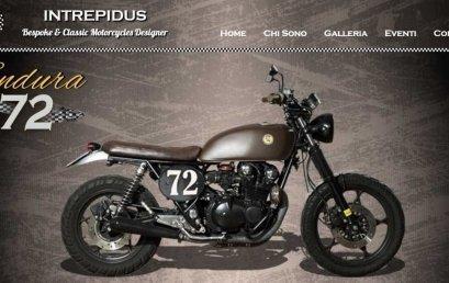 Sito web per moto artigianali: Intrepidus Motorcycles